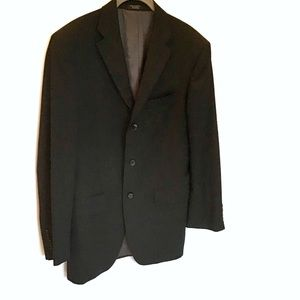 Jones New York Black Wool 3 Button Men's Jacket 36